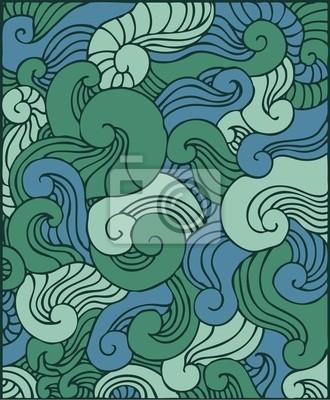 Fototapeta windings green ornamental background