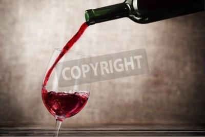 Fototapeta Wino.