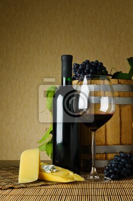 Fototapeta wino i ser