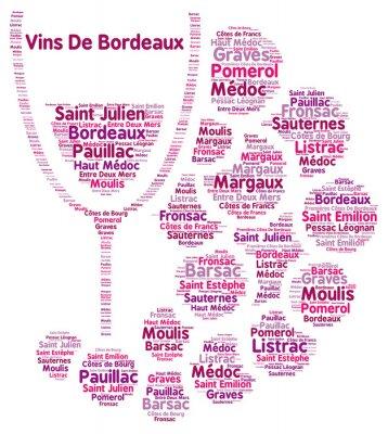Fototapeta Wino z Bordeaux word chmura