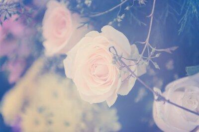 Fototapeta Winobrania wzrósł bukiet kwiatów łagodne tło