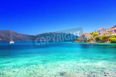 Fototapeta wioska Fiskardo, wyspy Kefalinia, Grecja