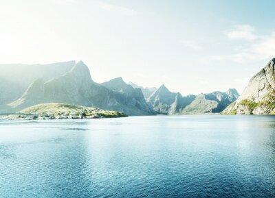 Fototapeta wiosny pomalowane - Reine, Lofoty, Norwegia