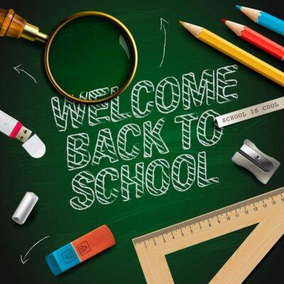 Fototapeta Witamy z powrotem do szkoły, vector EPS10.
