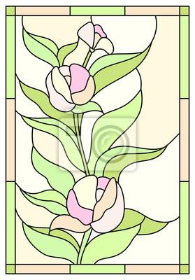 Niesamowite Witraż kwiat róży Fototapeta • Fototapety piękny, niezwykły, róża PV12