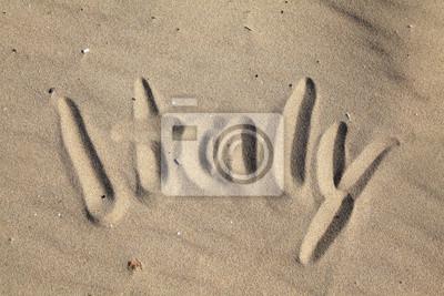 Włochy - kreska na piaszczystej plaży