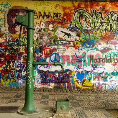 Fototapeta Woda No i graffiti ściany