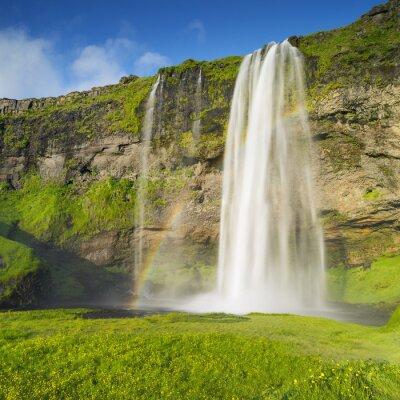 Fototapeta Wodospad w Islandii i tęcza
