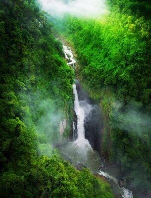 Fototapeta Wodospad w lesie, Tajlandii