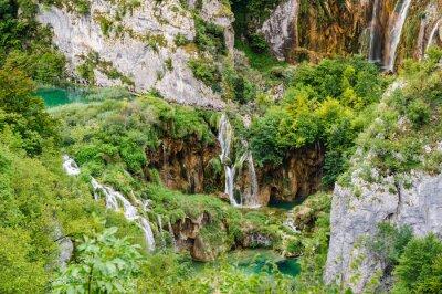 Fototapeta Wodospady w Parku Narodowym Jeziora Plitvice, Chorwacja