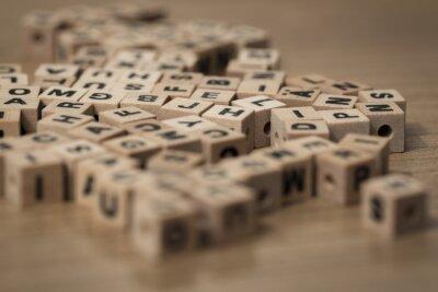 Fototapeta wooden cubes
