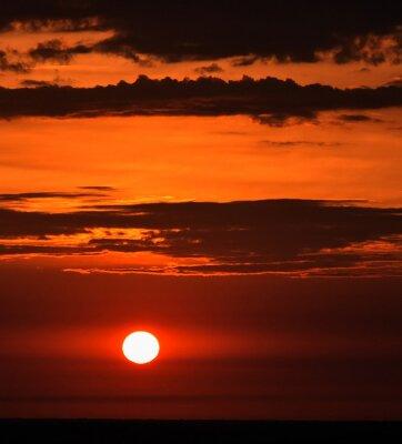Fototapeta Wschód słońca w okresie letnim