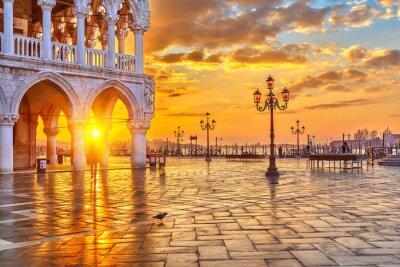 Fototapeta Wschód słońca w Wenecji
