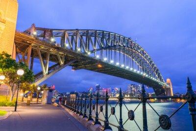 Fototapeta Wspaniała noc Panoramę Sydney, Australia