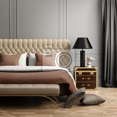 35748d8e4ff968 Fototapeta Współczesna elegancki luksus blady brązowy i szary sypialnia