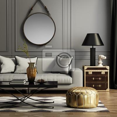 345fdb894646fb Współczesna elegancki szary salon Fototapeta • Fototapety wnętrza ...