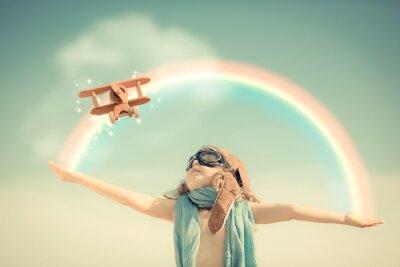 Fototapeta Wszystkiego najlepszego z okazji kid gry z samolotu zabawki