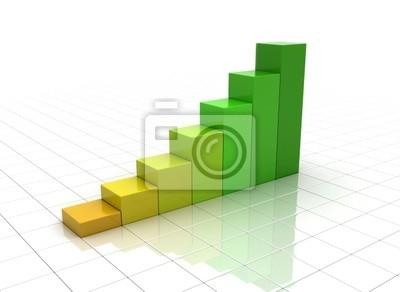 Fototapeta wykres biznesowych