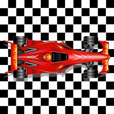 Fototapeta Wyścig Formuły 1 Red Car na jej tle