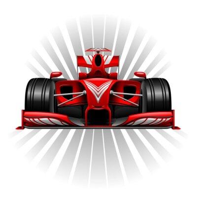 Fototapeta Wyścigi Formuły 1 Red Car