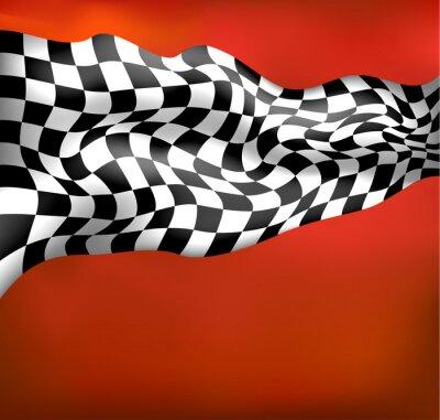 Fototapeta wyścigi tle flagi z szachownicą wawing