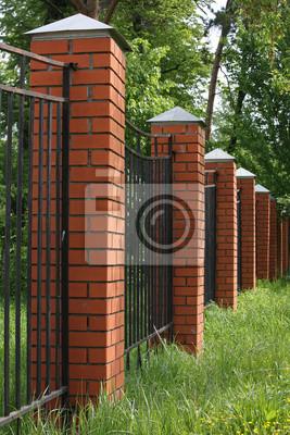 Wysoki p ot z kolumn z ceg y fototapeta fototapety murarstwo kolumna wysoki - Clases de ladrillos ...
