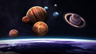 Fototapeta Wysokiej jakości pojedyncze planety układu słonecznego. Elementy tego zdjęcia dostarczone przez NASA