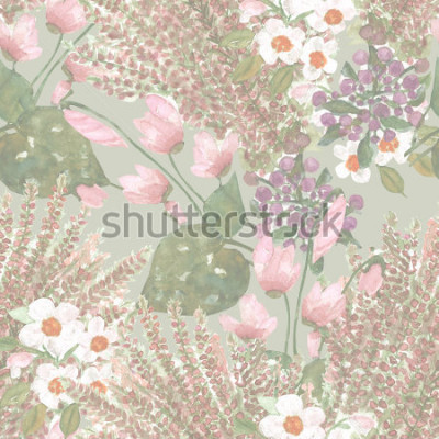 Fototapeta Wzór kwiaty