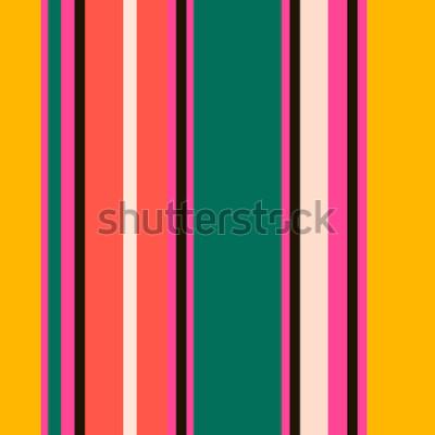 Fototapeta Wzór retro jasne kolorowe paski bez szwu. Streszczenie tło wektor Stylowe kolory.