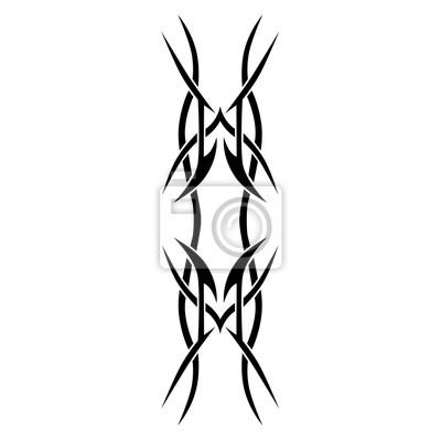 Fototapeta Wzór Tatuażu Szablon Wzór Streszczenie Czarno Biały Wzór Na