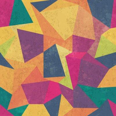 Fototapeta wzór trójkąta. Kolorowe, grunge i bezproblemowe. grunge skutki