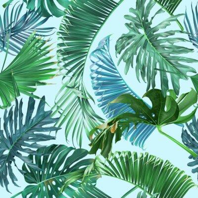 Fototapeta Wzór tropikalny liści
