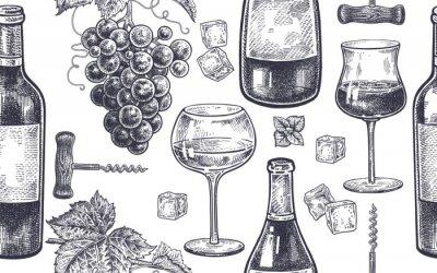 Fototapeta Wzór z picia wina.