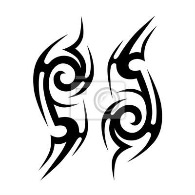 Fototapeta Wzory Tatuażu Tatuaż Plemiennych Wzorów Wektora Sztuka Tatuaż