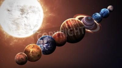 Fototapeta Wzrost jakości planet układu słonecznego. Elementy tego zdjęcia dostarczone przez NASA