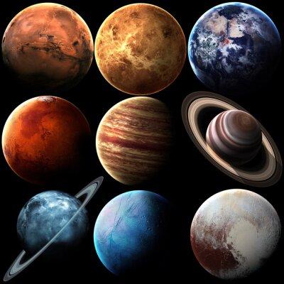 Fototapeta Wzrost jakości pojedyncze planety układu słonecznego. Elementy tego zdjęcia dostarczone przez NASA