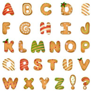 Fototapeta Xmas Gingerbread Cookie Alfabet