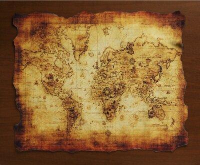 Fototapeta 宝 の 地 図 / 古 い 地 図