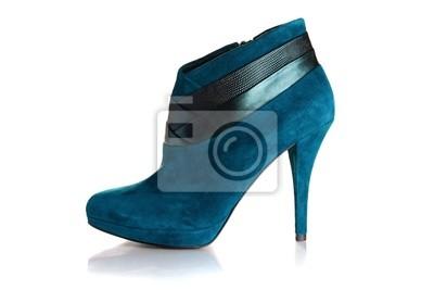 Fototapeta Красивый женский ботинок на высоком каблуке.
