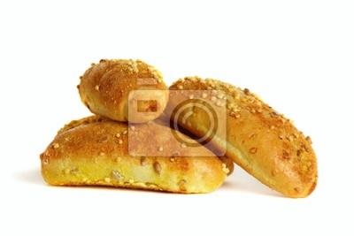 Fototapeta Маленькие кукурузные булочки на белом фоне.