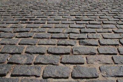 Fototapeta Сobblestone pavement.