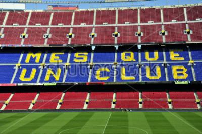 Fototapeta Rozdrobnić stadion piłkarski Obóz Nou w Barcelona, Hiszpania.