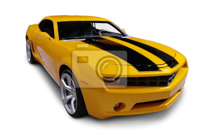 Fototapeta Yellow American Sports Car
