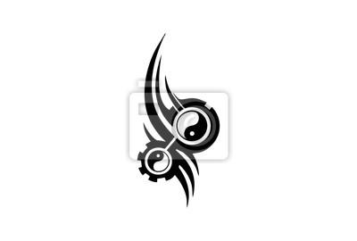 Yin Yang Oko Wektorowych I Tatuaż Fototapeta Fototapety Ying