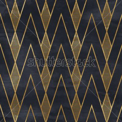 Fototapeta Z oo Wzór geometryczny na papierowej teksturze. Tło w stylu Art Deco,