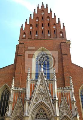 Zabytkowy kościół w mieście Kraków, Polska