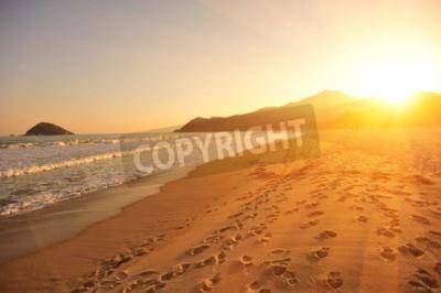 Fototapeta Zachód słońca na plaży