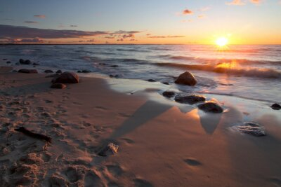 Fototapeta Zachód słońca nad morzem Bałtyckim