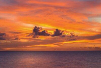 Fototapeta Zachód słońca w Niue.