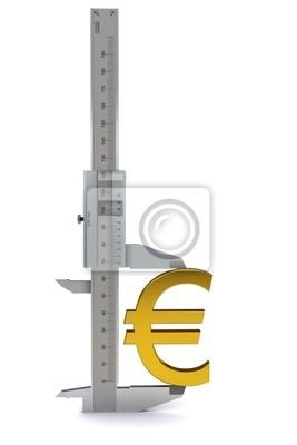 8aecdb22d Zacisk mierzy złoty znak euro. renderowania 3d Fototapeta ...